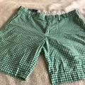 Polo By Ralph Lauren Shorts   Ralph Lauren Green Gingham Mens Shorts   Color: Green/White   Size: 35