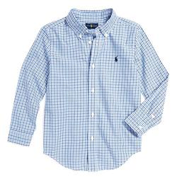 Ralph Lauren Shirts & Tops   Ralph Lauren 'Blake' Plaid Cotton Poplin Shirt   Color: Blue   Size: Lb