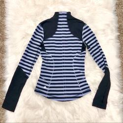 Lululemon Athletica Jackets & Coats   Lululemon Forme Jacket Sea Stripe Polar Haze Black   Color: Black/Blue   Size: 2