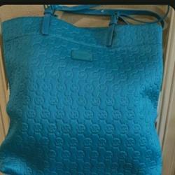 Michael Kors Bags | Mk Tote Bag | Color: Blue | Size: It'S A Medium Size Tote Bag