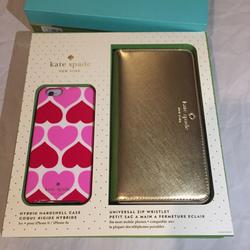 Kate Spade Accessories | Kate Spade Gift Set Iphone Case & Wristlet | Color: Gold | Size: Os