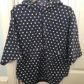 Columbia Jackets & Coats | Girls' Benton Springs Printed Half Zip Poncho Sz M | Color: Blue/White | Size: M (10-12)