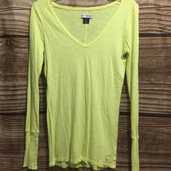 American Eagle Outfitters Tops | Neon Yellow Ls Shirt | Color: Yellow | Size: M