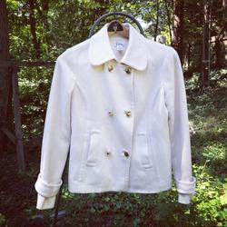 Lilly Pulitzer Jackets & Coats | Lilly Pulitzer Winter White Wool Peacoat | Color: Cream/White | Size: 4