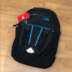 The North Face Bags | Nwt The North Face Recon Backpack - Black Blue | Color: Black/Blue | Size: 30 Liters