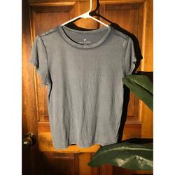 American Eagle Outfitters Tops   Dusty Blue Rubbed Cotton T Shirt   Color: Blue   Size: S