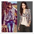Free People Jackets & Coats | Floral Moto Jacket | Color: Blue/Green | Size: 2