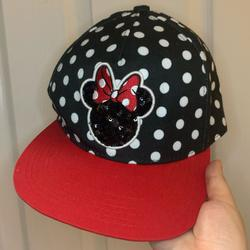 Disney Accessories   Minnie Mouse Snapback Hat   Color: Black/Red   Size: Os