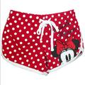 Disney Bottoms | Nwt Disney Girls Minnie Mouse Shorts - Size 1012 | Color: Red/White | Size: 1012 Youth