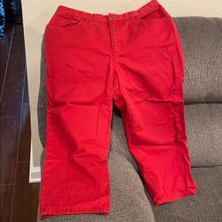 Ralph Lauren Jeans | Lauren Jeans Red Capri Jeans | Color: Red | Size: 10