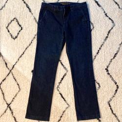 Ralph Lauren Jeans | Ralph Lauren Jeans Co. Dark Denim Wide Leg Jeans | Color: Blue | Size: 6p