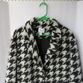 Nine West Jackets & Coats | Nine West Houndstooth Coat | Color: Black/White | Size: M