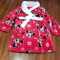 Disney Pajamas | Minnie Mouse Disney Plush Robe Girls 6 Red Belted | Color: Red/White | Size: 6g
