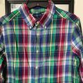 Ralph Lauren Shirts & Tops | Ralph Lauren Plaid Cotton Poplin Shirt | Color: Blue/Red | Size: Lb