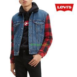Levi's Jackets & Coats | Levi'S Hybrid Buffalo Plaid Denim Trucker Jacket | Color: Blue/Red | Size: L