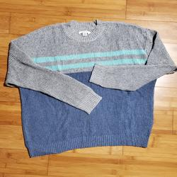 American Eagle Outfitters Sweaters | American Eagle Blue And Gray Box Sweater | Color: Blue/Gray | Size: M
