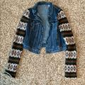 Free People Jackets & Coats | Free People Jean Jacket | Color: Blue/Green | Size: Sp