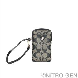 Coach Accessories | Coach Peyton Signature Universal Phone Case Nwt | Color: Black/Gray | Size: Os