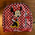 Disney Accessories | New Minnie Mouse Toddler Backpack | Color: Red/White | Size: Approximately 10w X 9.5h