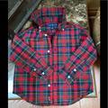 Ralph Lauren Shirts & Tops | 2t Ralph Lauren -Plaid Cotton Poplin Shirt | Color: Green/Red | Size: 2tb