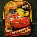 Disney Accessories | Disney Pixar Cars Small Backpack Euc | Color: Red/Yellow | Size: Osbb