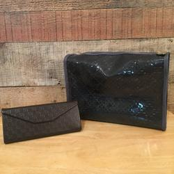 Gucci Accessories   Gucci Toiletries Bag & Glasses Case Bundle   Color: Brown/Gray   Size: Os