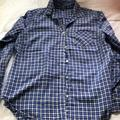 American Eagle Outfitters Tops | Aeo Thin Cotton Plaid Cotton Long Sleeve. Xl | Color: Blue/White | Size: Xl