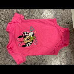 Disney One Pieces   Disney Baby Cute Outfit   Color: Pink   Size: 6-9mb