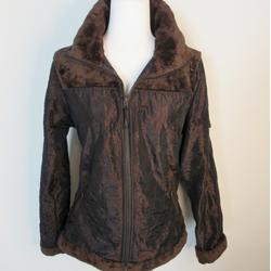 Athleta Jackets & Coats   Athleta Brown Quilted Jacket Wfaux Fur Trim Sz M   Color: Brown   Size: M