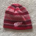 Adidas Accessories | New Adidas Detroit Red Wings Winter Beanie | Color: Gray/Red | Size: Os