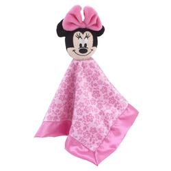Disney Bedding | Minnie Mouse Lovey Baby Security Blanket | Color: Black/Pink | Size: 12.5in. X12.5 In.