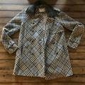 Free People Jackets & Coats | Free People Plaid Coat | Color: Gray | Size: 4