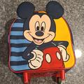 Disney Accessories | Mickey Mouse Mini Rolling Backpack | Color: Blue/Red | Size: Osb