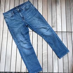 J. Crew Jeans   J Crew Jeans Blue Denim Straight 5 Pocket Jeans   Color: Blue   Size: W 36 L 32