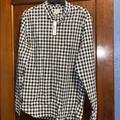 J. Crew Shirts | J. Crew Slim Stretch Shirt In Cotton Gingham | Color: Blue/White | Size: L