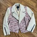J. Crew Jackets & Coats | Jcrew Size 8 Collection Tweed Moto Jacket | Color: Pink/Tan | Size: 8