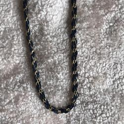 Madewell Jewelry | Madewell Goldnavy Necklace | Color: Blue/Gold | Size: Os
