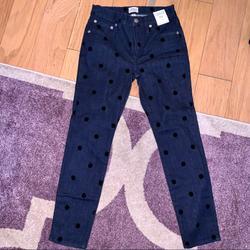 J. Crew Jeans | J. Crew Denim Polka Dot High Rise Skinny Jeans | Color: Black/Blue | Size: 25p