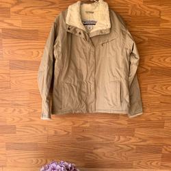 Columbia Jackets & Coats | Columbia Faux Fur Trimmed Womens Jacket | Color: Tan | Size: Xl