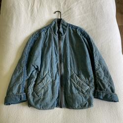 Free People Jackets & Coats   Free People Denim Quilted Jacket   Color: Blue   Size: Xs