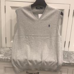 Polo By Ralph Lauren Sweaters | Polo Ralph Lauren Mens Gray Vest | Color: Gray | Size: L