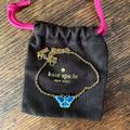 Kate Spade Jewelry   Kate Spade Gold And Enamel Butterfly Necklace   Color: Blue/Gold   Size: 16