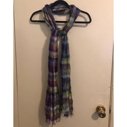 American Eagle Outfitters Accessories | Multicolored Scarf | Color: Red | Size: Os