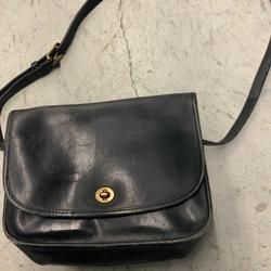 Coach Bags   Coach Vintage Black Leather Flap Over Crossbody   Color: Black   Size: Os