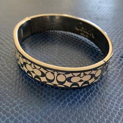 Coach Jewelry   Coach Vintage Bangle Bracelet   Color: Silver/White   Size: Os