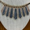 Jessica Simpson Jewelry   Jessica Simpson Reversible Statement Necklace   Color: Gold/Gray   Size: 18 + 2xt