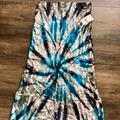 Free People Skirts   Free People Swagger Tie Dye Velvet Skirt Size L   Color: Black/Blue   Size: L
