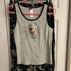 Disney Pajamas | Jr Cut Xlarge Pjs Like New | Color: Black/Gray | Size: Xlarge, Jr Cut Girls