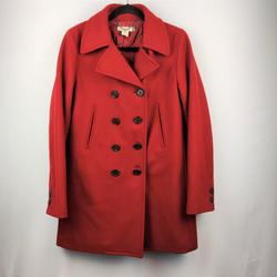 J. Crew Jackets & Coats | J Crew Double Breasted Med Red Womens Peacoat | Color: Red | Size: M