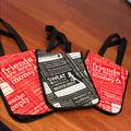 Lululemon Athletica Bags | 3 Lululemon Small Reusable Tote Gym Shopping Bags | Color: Red/White | Size: Os